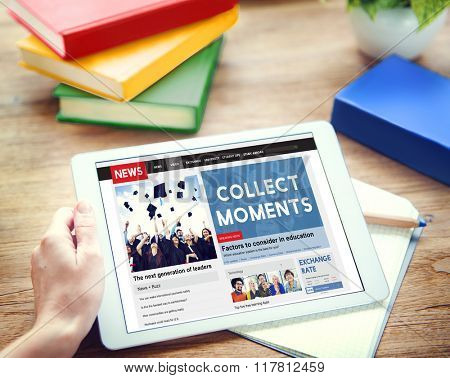 Collect Moments Experience Enjoy Concept poster