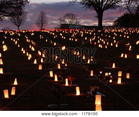 Luminaries  In The Cemetery