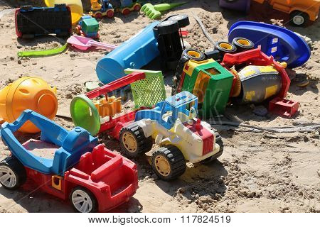 Variety Of Childish Colorful Cars