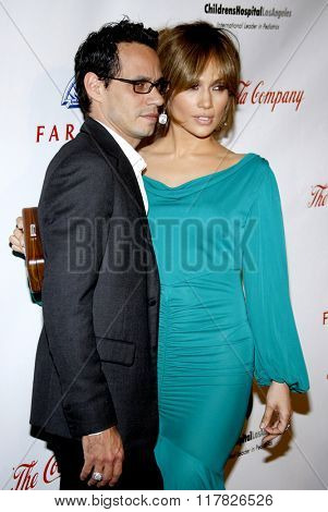 Marc Anthony and Jennifer Lopez at the 2009 Noche De Ninos Gala held at the Beverly Hilton Hotel in Beverly Hills, California, United States on May 9, 2009.
