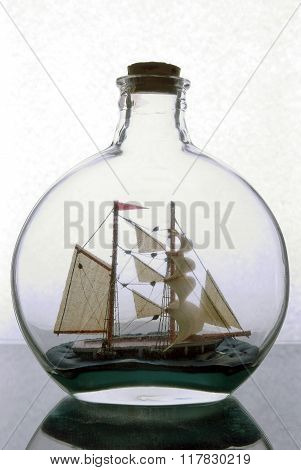 Sailing in  glass