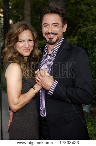 Robert Downey Jr. and wife Susan Downey at the Los Angeles premiere of the