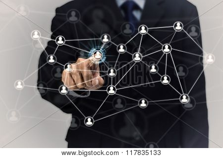 Network Of People And Businessman