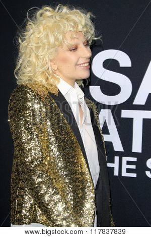 LOS ANGELES - FEB 10:  Lady Gaga at the SAINT LAURENT At The Palladium at the Hollywood Palladium on February 10, 2016 in Los Angeles, CA