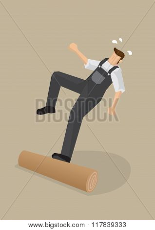 Workers Falling Backwards Vector Illustration