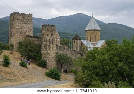 Ananuri Castle, A  Medieval Castle And Church Complex On The Aragvi River In Georgia
