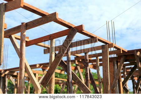 set of wood pine timber for New Home Construction