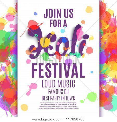 Holi festival poster.