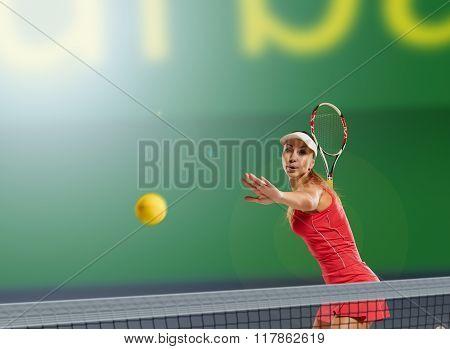 Woman tennis player