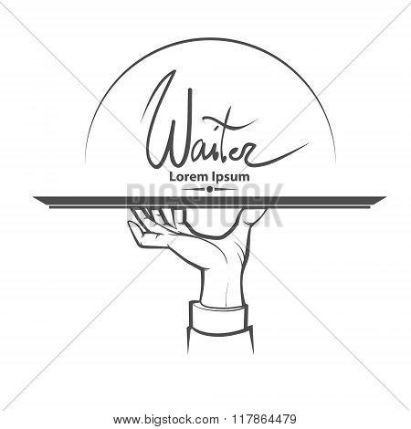 Waiter Hand Logo