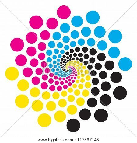 Circle With Print Colors