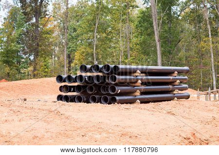 Black Sewer Pipes On Angle