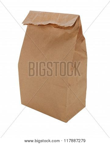 Brown Paper Lunch Bag Isolated
