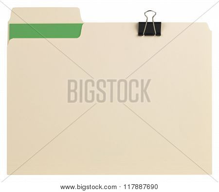 Manila Folder With Some Documents In It...