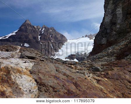 Patagonian Mountain Panorama In Los Glaciares Park