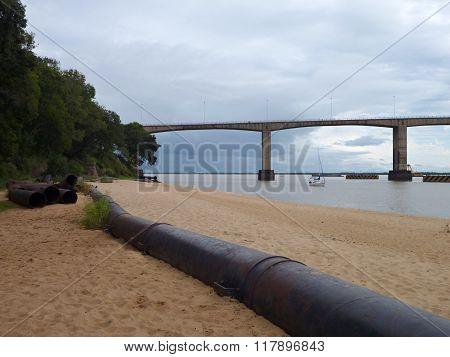 Bridge Over Parana River In Corrientes In Argentina