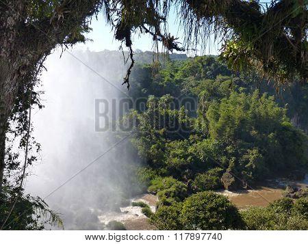 Iguacu Falls On Argentinian Brasilian Border