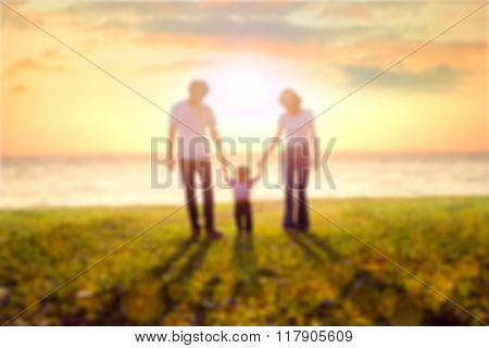 Blur Family On Beach