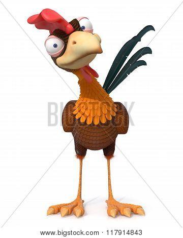 3D Illustration Rooster