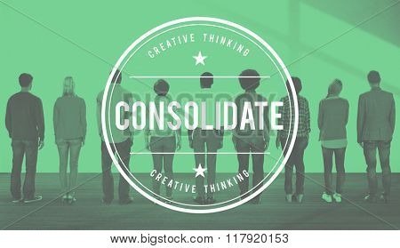Consolidate Merge Integrate Banking Corporation Concept