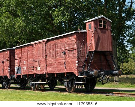 Railway Wagon At Former Nazi Transit Camp Westerbork