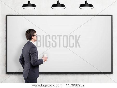 Businessman Going To Present Data