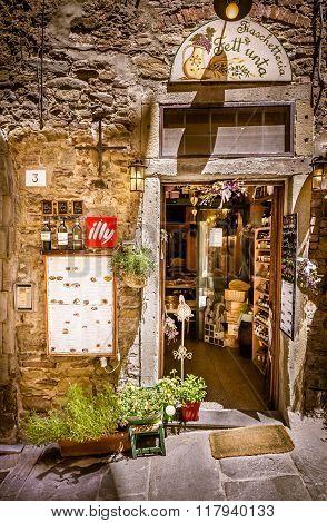 Cortona Street In Tuscany