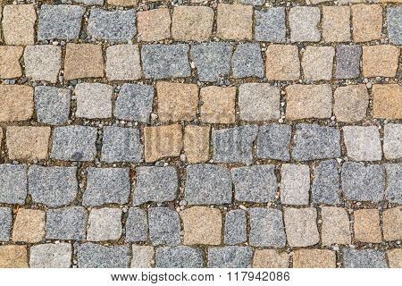 Stone pavement texture.