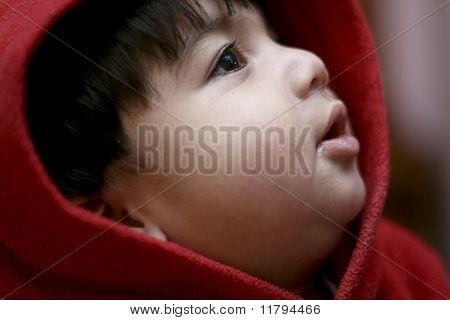 Closeup Of A Boy