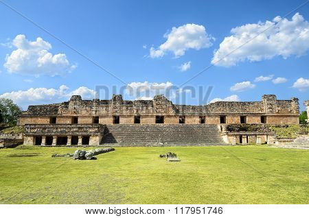 Stunning View To Mayan Ruins In Uxmal