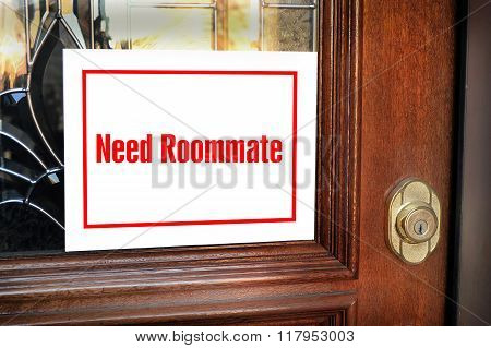 Need Roommate Sign.