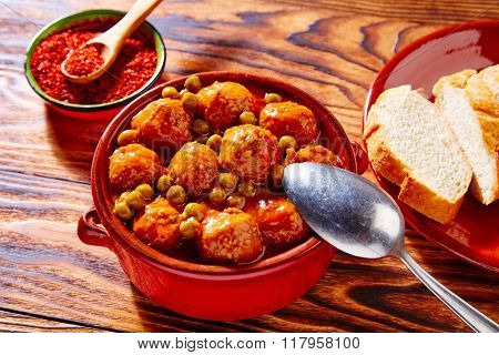 Meatballs tapas meatloaf albondiga recipe from Spain