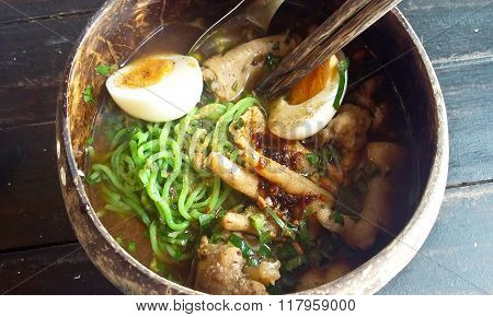 Chicken Noodle Tom Yum ,thai Food.