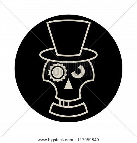 Skull in Hat  cylindre