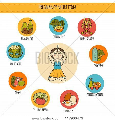 Pregnancy nutrition infographic
