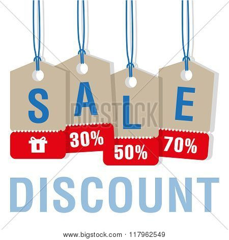 Sale Discount Labels Set