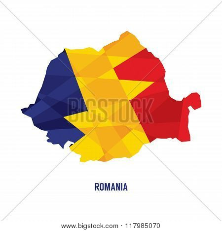 Map Of Romania Vector Illustration.