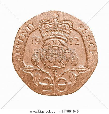 Twenty Pence Coin Vintage