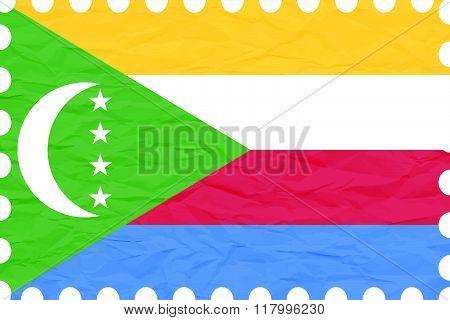 Wrinkled Paper Comoros Stamp