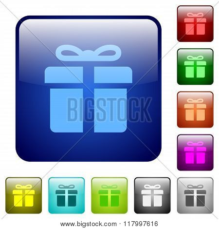 Color Gift Square Buttons