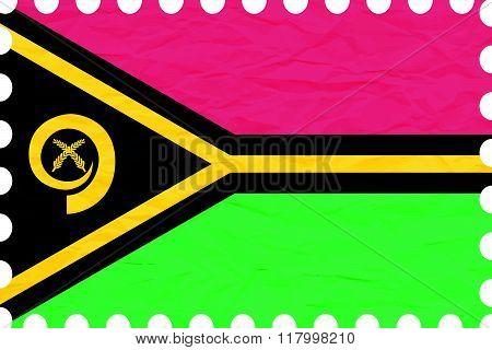 Wrinkled Paper Vanuatu Stamp