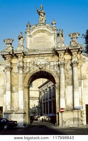 People At Saint Orontio Gate In Lecce - Italy
