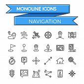 Navigation Line Icon Set. Navigation Icon Vector. Navigation Icon Flat. Navigation Icon Image. Navigation Icon JPEG. Navigation Icon EPS. Navigation Icon JPG. Navigation Icon Object. poster