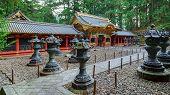 Yashamon Gate at Taiyuinbyo - the Mausoleum of Shogun Tokugawa Iemitsu in Nikko, Japan poster