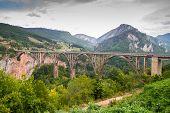 Montenegro Dzhurdzhevich Bridge, a side view of the bridge poster