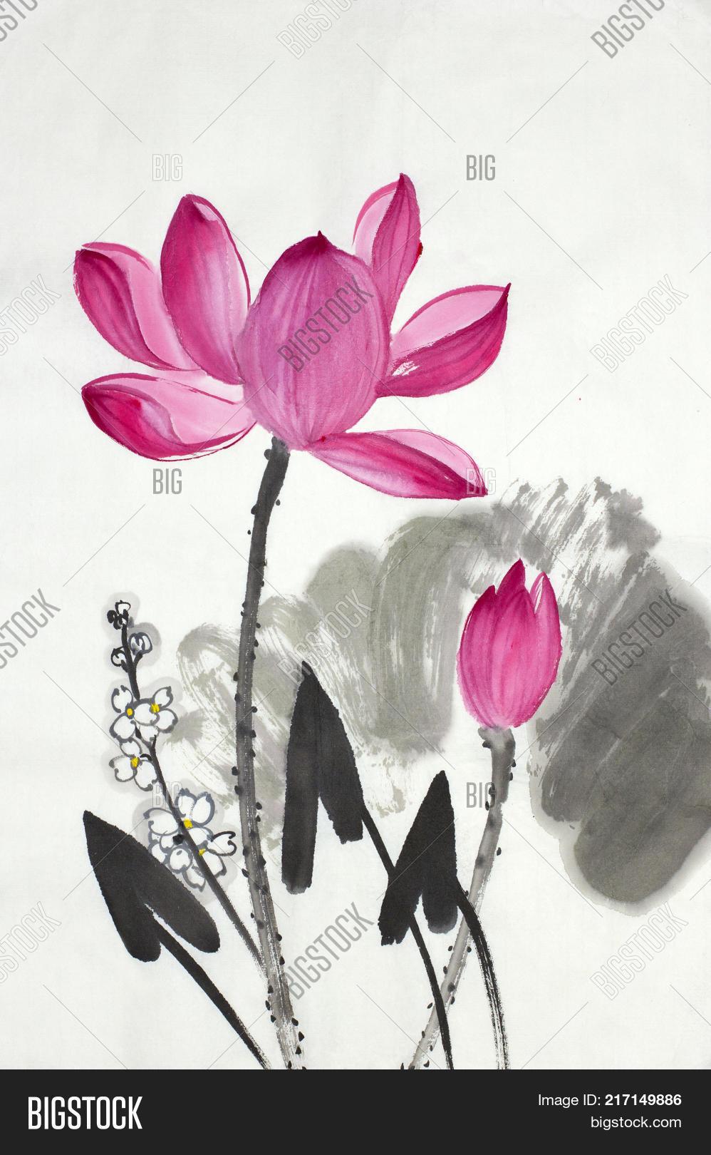 Lotus Flower Arrow Image Photo Free Trial Bigstock