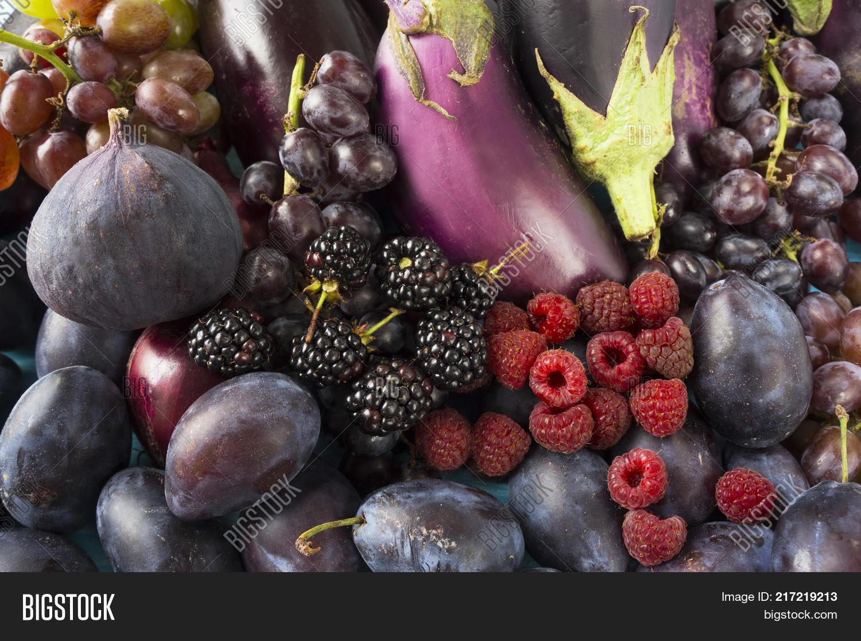 Blue Black Purple Food Image Photo Free Trial Bigstock
