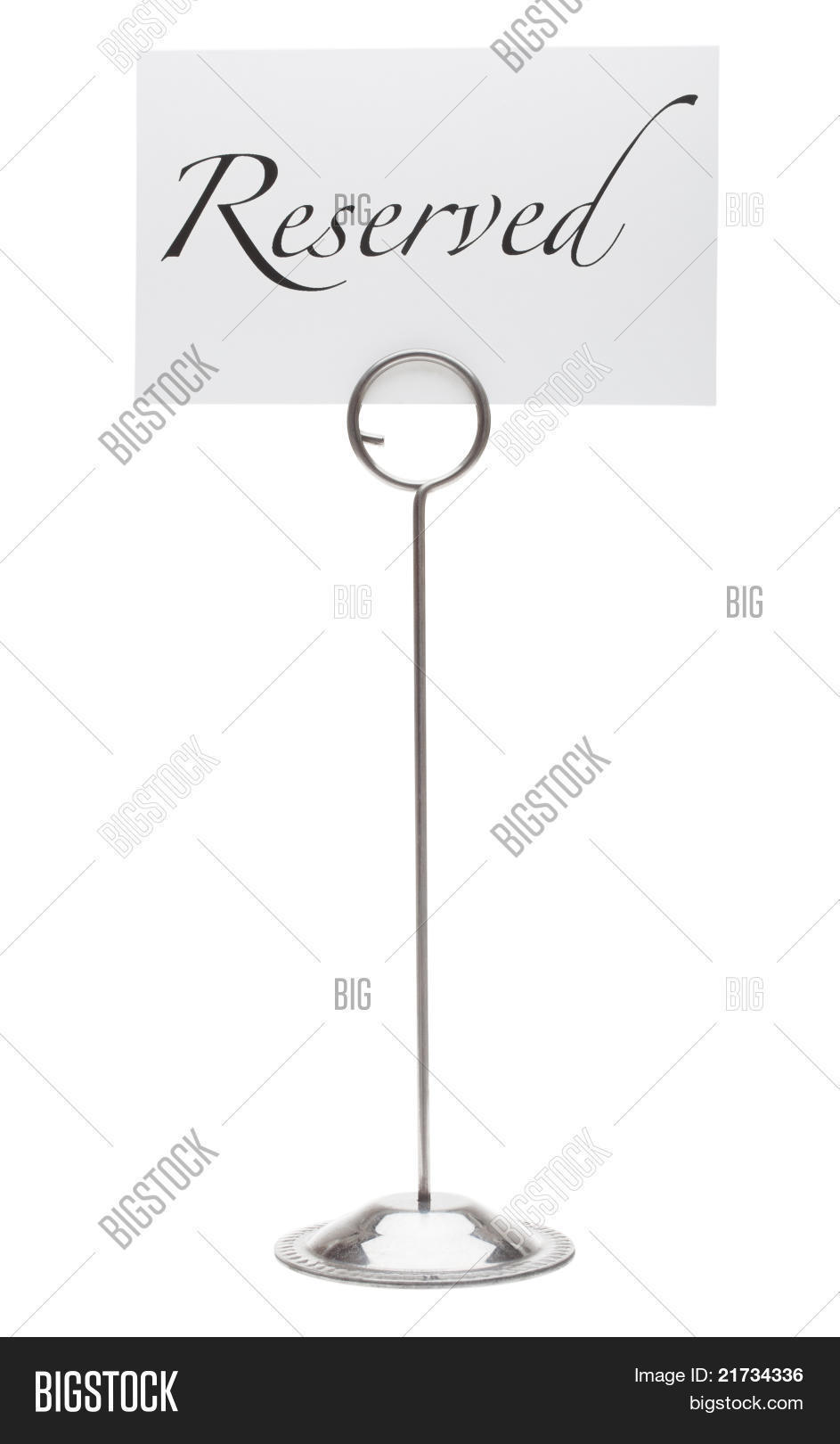 Reserved Table Stand Image Photo Free Trial Bigstock - Restaurant table stands