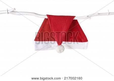 Santa Hat on an Isolated White Background