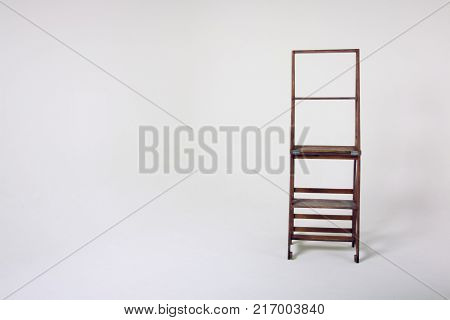 staircase wooden staircase staircase wooden staircase on a white background in the studio